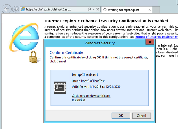 KB01380 - Configuring PI Web Services to use IIS client certificate ...