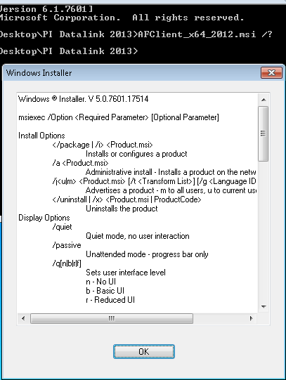 KB01034 - How to Silently Install OSIsoft Software
